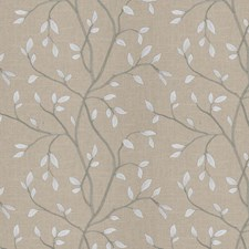 Flax Embroidery Drapery and Upholstery Fabric by Trend