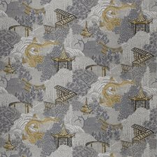 Citrine Animal Drapery and Upholstery Fabric by Trend