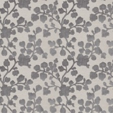 Charcoal Floral Drapery and Upholstery Fabric by Trend