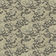 Sepia Floral Drapery and Upholstery Fabric by Trend