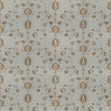 Aqua Global Drapery and Upholstery Fabric by Trend
