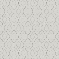 White Pearl Embroidery Drapery and Upholstery Fabric by Trend