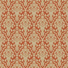 Persimmon Print Pattern Drapery and Upholstery Fabric by Vervain