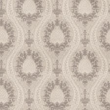 Silver Damask Drapery and Upholstery Fabric by Fabricut