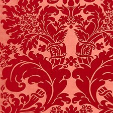 Soft Wine On Rose Drapery and Upholstery Fabric by Scalamandre
