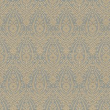 Cornflower Damask Drapery and Upholstery Fabric by Trend