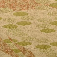 Terra/Green Abstract Drapery and Upholstery Fabric by Duralee