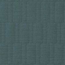Aqua Geometric Drapery and Upholstery Fabric by Duralee