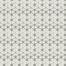 Pearl Grey Geometric Drapery and Upholstery Fabric by Fabricut