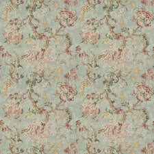 Autumn Sky Floral Drapery and Upholstery Fabric by Fabricut