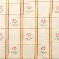 Peach Check Drapery and Upholstery Fabric by Lee Jofa