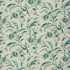Greentone Floral Drapery and Upholstery Fabric by Vervain