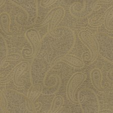 Yellow/Brown Paisley Drapery and Upholstery Fabric by Kravet