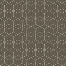 Mocha Geometric Drapery and Upholstery Fabric by Fabricut