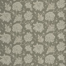 Smoke Floral Drapery and Upholstery Fabric by Fabricut