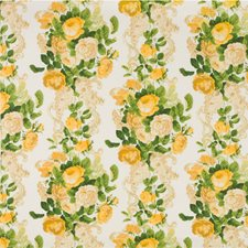 Citron Botanical Drapery and Upholstery Fabric by G P & J Baker