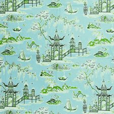 Blossom Toile Drapery and Upholstery Fabric by Greenhouse