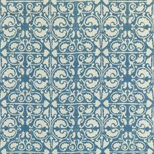 Blue/White/Light Blue Geometric Drapery and Upholstery Fabric by Kravet