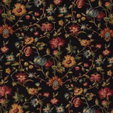Black/Multi Print Drapery and Upholstery Fabric by Kravet