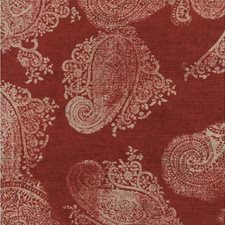 Red Paisley Drapery and Upholstery Fabric by Andrew Martin