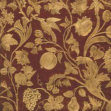 Red/Gold Drapery and Upholstery Fabric by Scalamandre