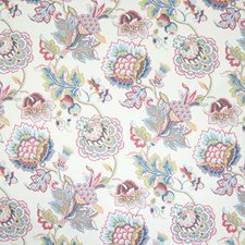 Blush Floral Drapery and Upholstery Fabric by Greenhouse