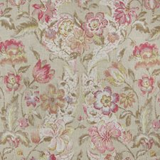 Antique Floral Drapery and Upholstery Fabric by Greenhouse