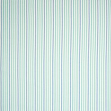 Teal Stripe Drapery and Upholstery Fabric by Greenhouse