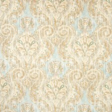 Azure Scroll Drapery and Upholstery Fabric by Greenhouse