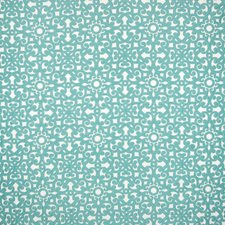 Teal Scroll Drapery and Upholstery Fabric by Greenhouse