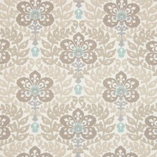 Natural Scroll Drapery and Upholstery Fabric by Greenhouse