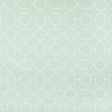 Robins Egg Geometric Drapery and Upholstery Fabric by Greenhouse