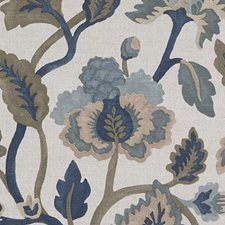 Indigo Drapery and Upholstery Fabric by Duralee