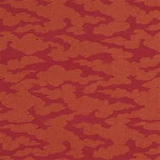 Terracotta Solid W Drapery and Upholstery Fabric by G P & J Baker