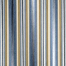 Nat/Blu Stripes Drapery and Upholstery Fabric by G P & J Baker