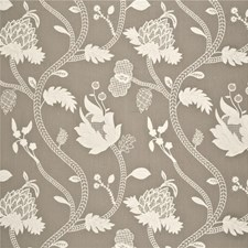 Linen/Ivory Botanical Drapery and Upholstery Fabric by G P & J Baker