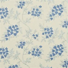 Blue Embroidery Drapery and Upholstery Fabric by G P & J Baker
