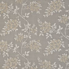 Silver Embroidery Drapery and Upholstery Fabric by G P & J Baker