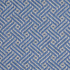 Mid Blue Drapery and Upholstery Fabric by G P & J Baker