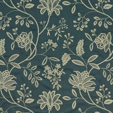 Baltic Embroidery Drapery and Upholstery Fabric by G P & J Baker