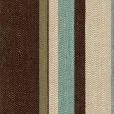 Aqua/Cocoa Stripes Drapery and Upholstery Fabric by G P & J Baker