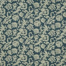 Indigo Embroidery Drapery and Upholstery Fabric by G P & J Baker