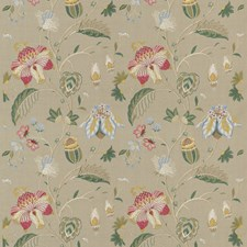 Linen Embroidery Drapery and Upholstery Fabric by G P & J Baker