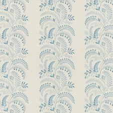 Soft Blue Embroidery Drapery and Upholstery Fabric by G P & J Baker