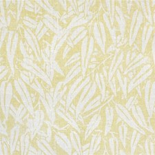 Yellow Botanical Drapery and Upholstery Fabric by Lee Jofa