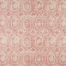 Red Print Drapery and Upholstery Fabric by Lee Jofa