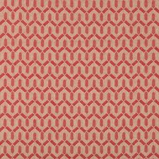 Red Geometric Drapery and Upholstery Fabric by Lee Jofa