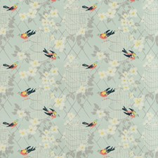 Aqua Animal Drapery and Upholstery Fabric by Kravet