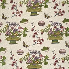 Fuschia/Lime Print Drapery and Upholstery Fabric by G P & J Baker