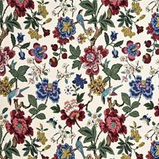 Red/Indigo/Stone Animal Drapery and Upholstery Fabric by G P & J Baker